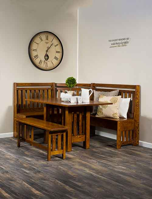 Amish Bay Hill Slat Nook Set