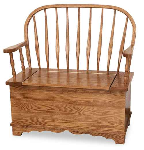 Amish Bent Feather Bow Storage Bench