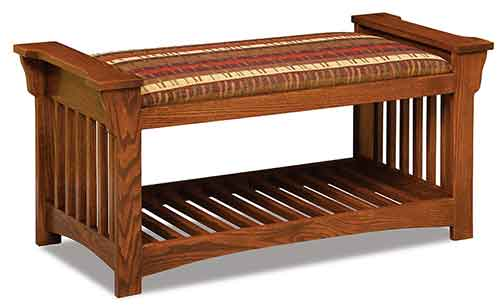 Amish Mission Slat Bench