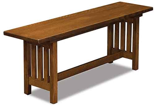 Amish Mission Trestle Bench
