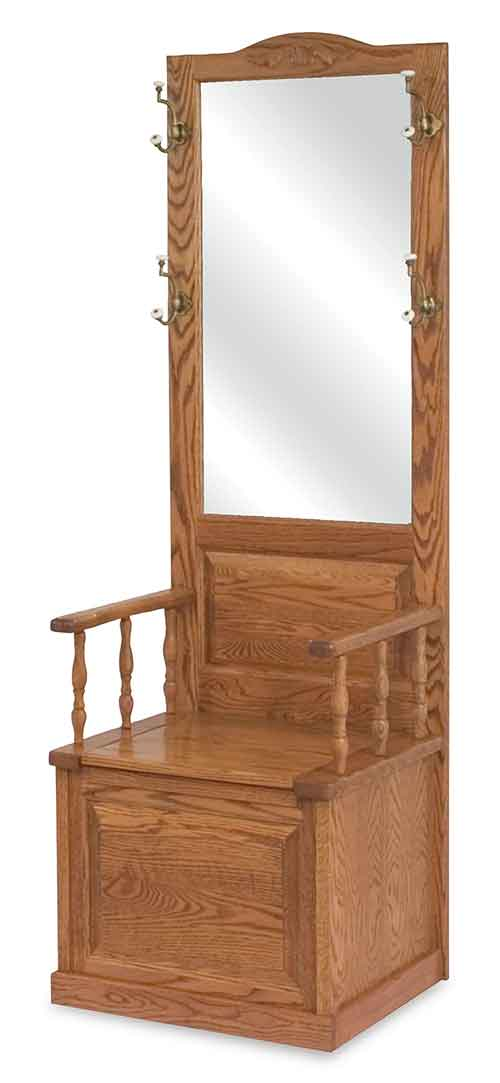 Amish Raised Panel Hall Seat