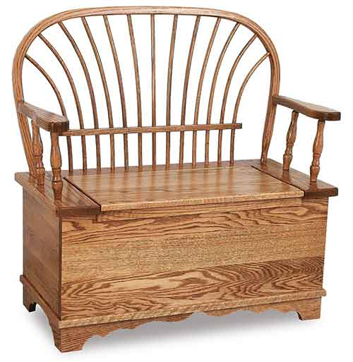 Amish Sheaf Bow Storage Bench