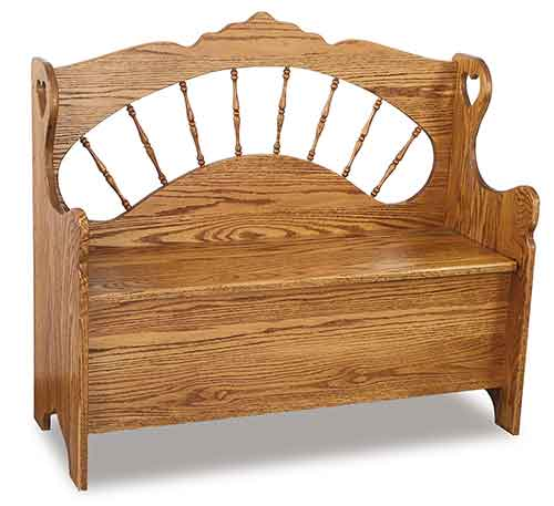 Amish Sunrise Spindle Bench