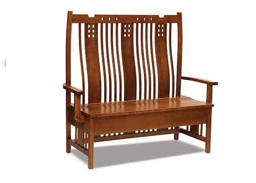 Admirable Amish West Village Storage Bench Ajw6738 6 The Amish Alphanode Cool Chair Designs And Ideas Alphanodeonline