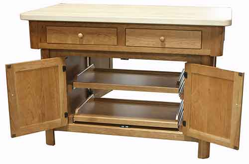 Amish New England Kitchen Island