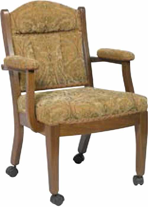 Amish Buckingham Low Back Fabric Chair