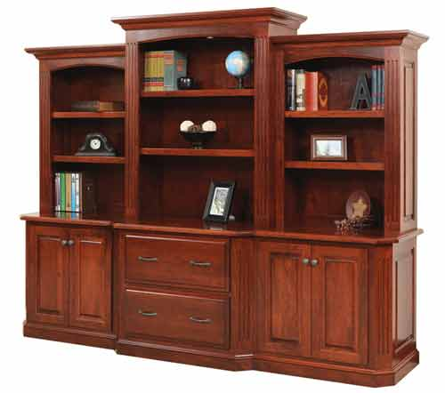 Amish Buckingham 3 Piece Hutch Top