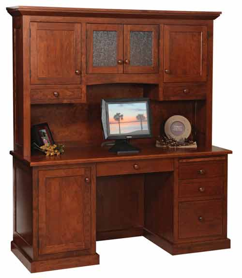 Amish Homestead Series Credenza and Hutch