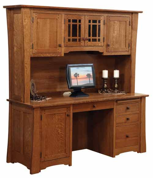 Amish Jamestown Credenza and Optional Hutch