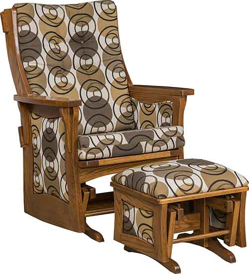 Amish Sebana Inlay Glider Rocker