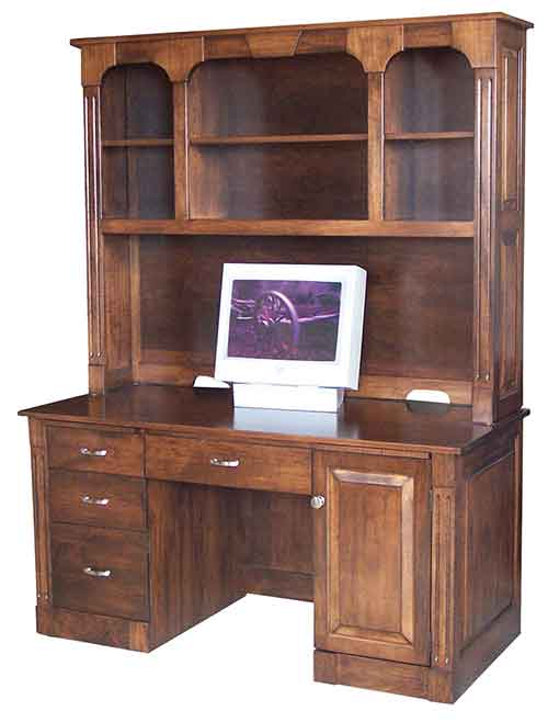 Amish Northport Computer Desk with Hutch