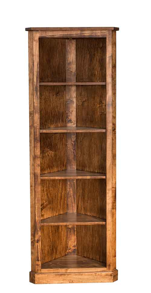 Amish Traditional Corner Bookcase