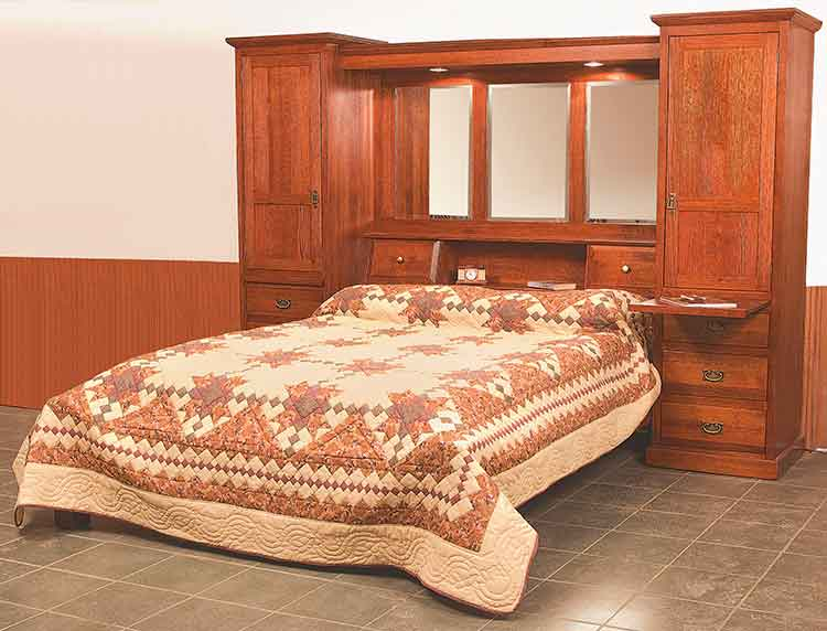 Amish Mission Pier Complete Bed Unit