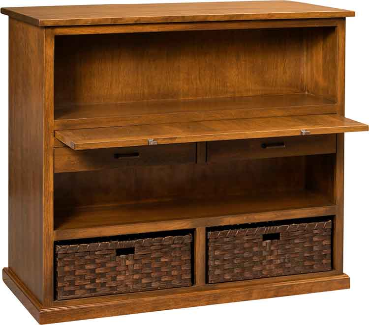 Amish Double-sided childs storage/desk
