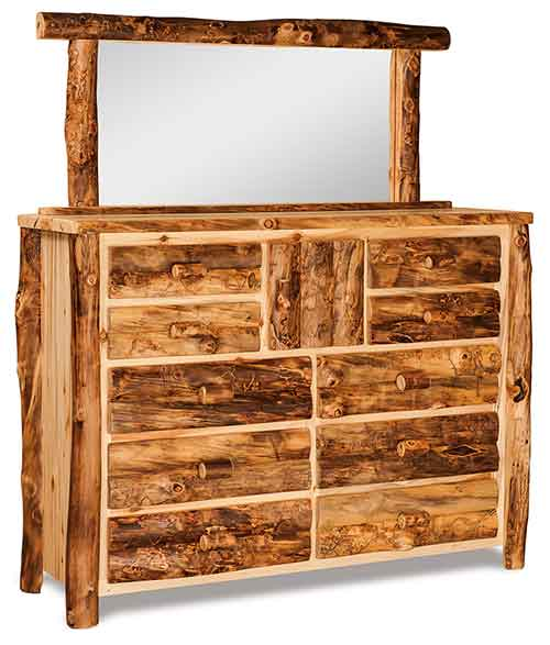 Dresser 10 Drawer, 1 Door w/ Mirror