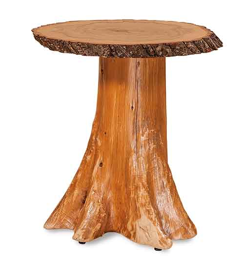 Stump End Table Top w/Bark on Stump
