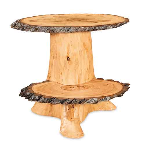 Double Slab Stump End Table