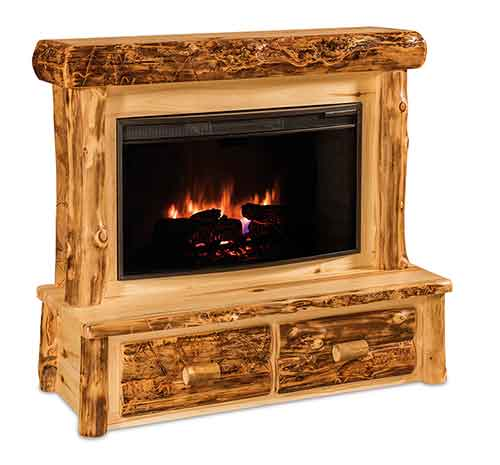 Fireplace w/Mantel and Drawers
