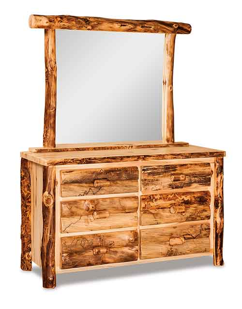 Small Dresser 6 Drawer w/Mirror