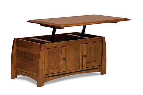Amish Boulder Creek Coffee Table with Lift Top