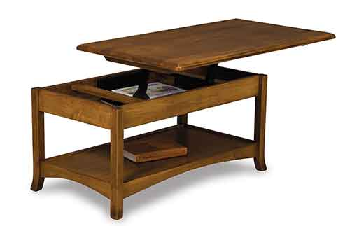 Amish Carlisle Coffee Table with Lift Top