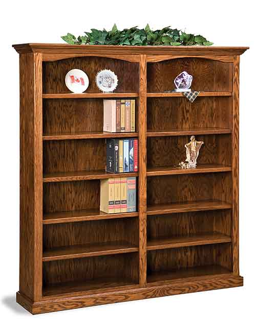 Amish Hoosier Heritage Double Bookcase
