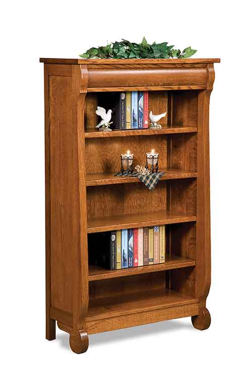 Amish Old Classic Sleigh Bookcase