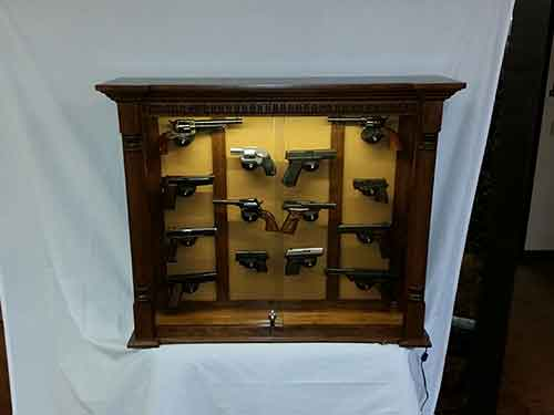 Amish 14 Pistol Wall Hanging Display