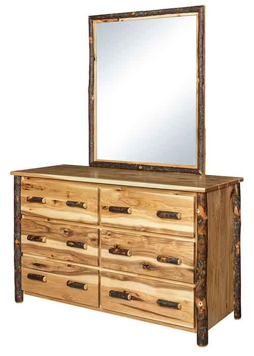Hickory Six Drawer Chest
