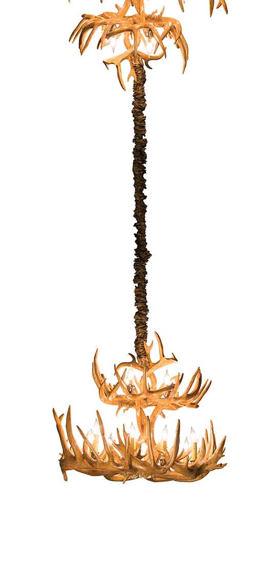 2-Tiwer Antler Chandelier