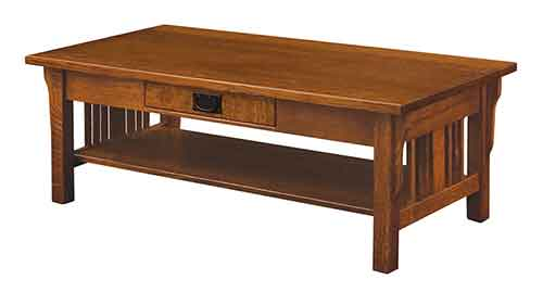 Amish Elliot Mission Coffee Table Open