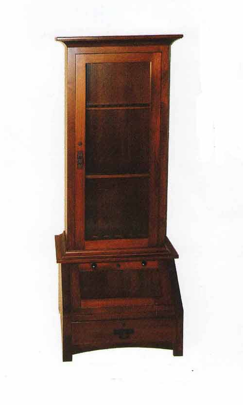 Amish Crafted Gun Cabinet with Pistol Display