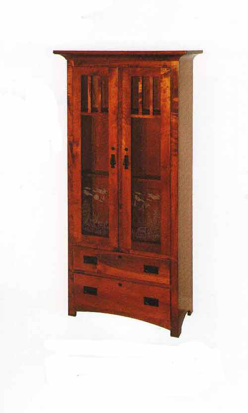 Amish Shaker Full Double Door Gun Cabinet