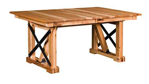 Amish Industrial Trestle Table