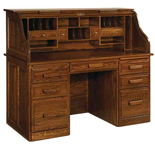 Amish Classic Farmers Roll-Top Desk