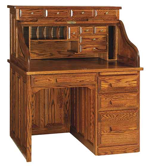 Amish Classic Single Pedestal Rolltop