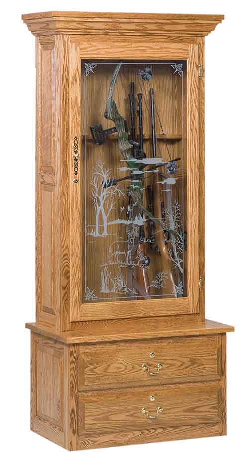 Amish 1-Door Gun Cabinet