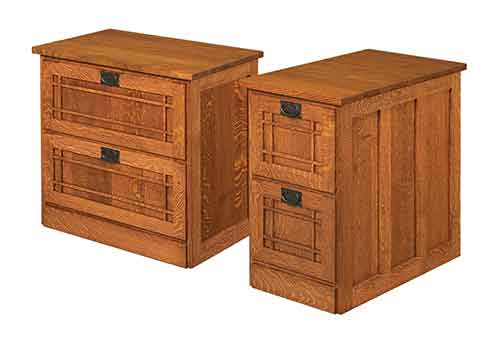 Amish Mission Lateral File Cabinet