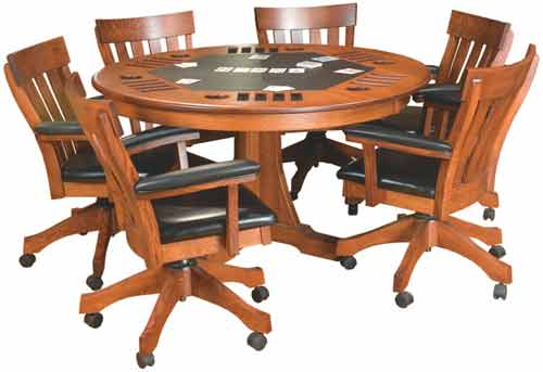 "Amish 54""Signature Mission Game Table Top Only"