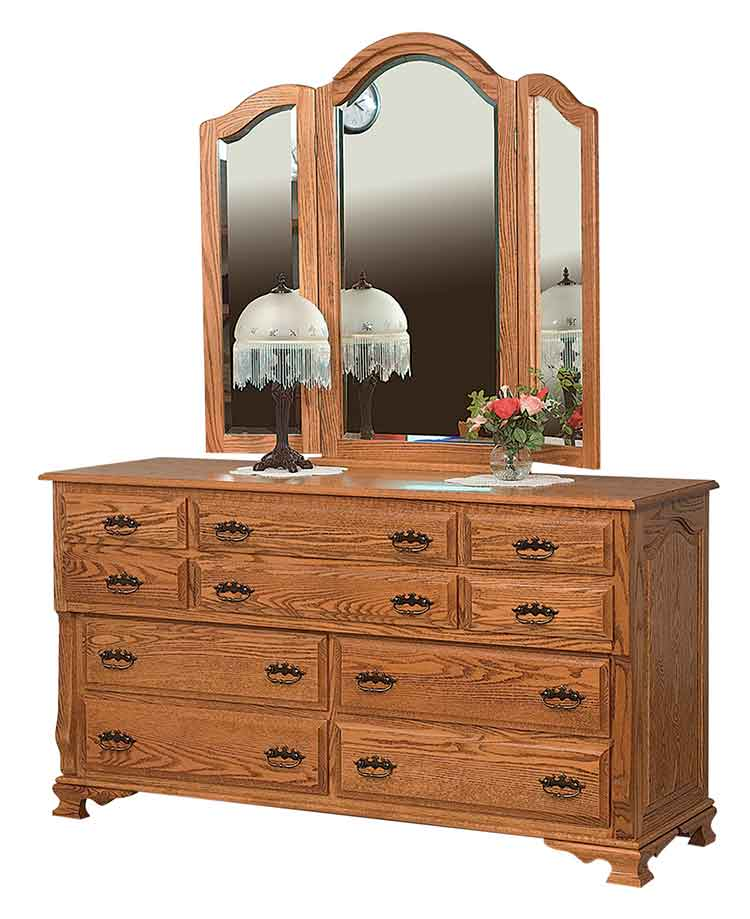"Amish Classic Heritage 66"" Dresser, 10 drawers"