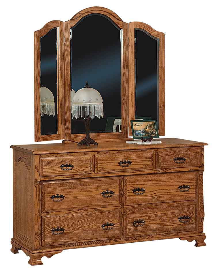 "Amish Classic Heritage 60"" Dresser, 7 drawers"