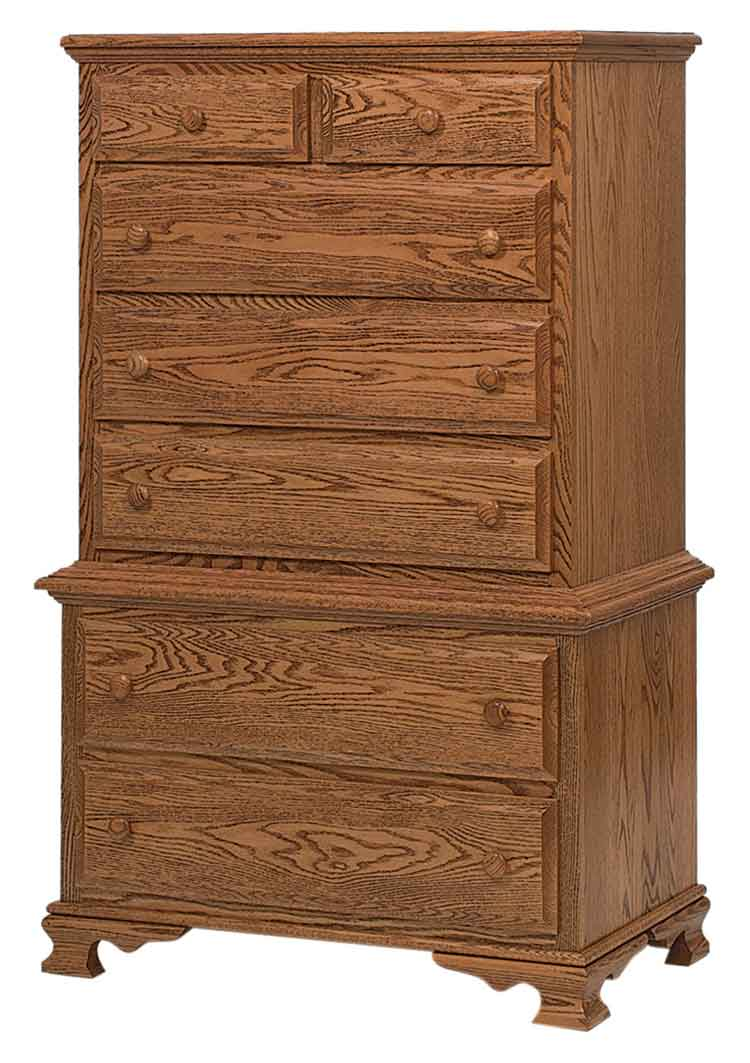 Amish Heritage Chest on Chest, 7 drawers (2 pc.)