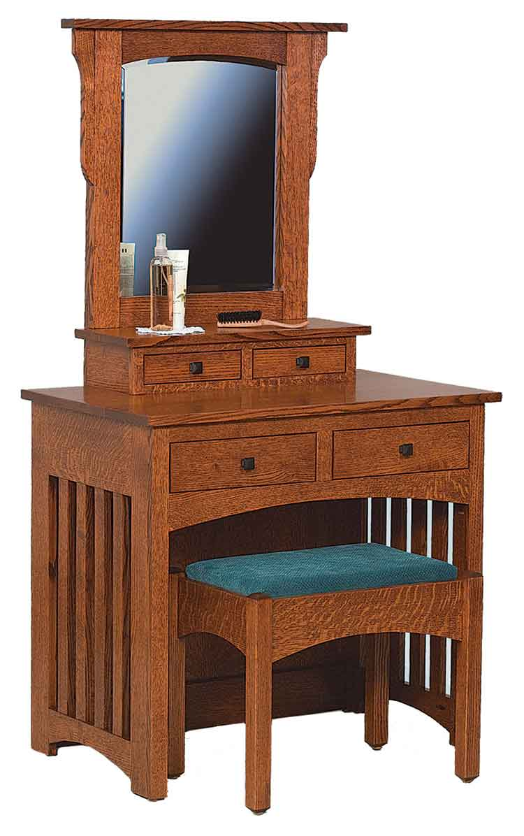 Amish Schwartz Mission Dressing Table with Bench