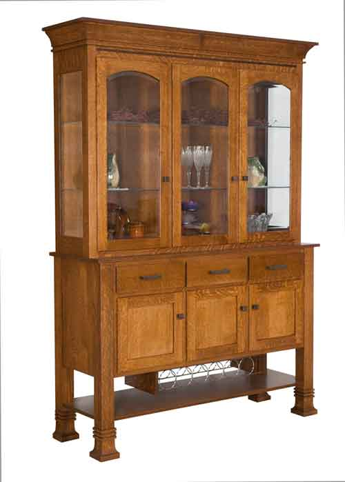 Amish Anglewood China Cabinet