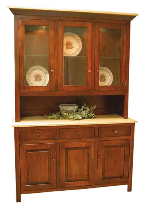 Amish Brookline China Cabinet