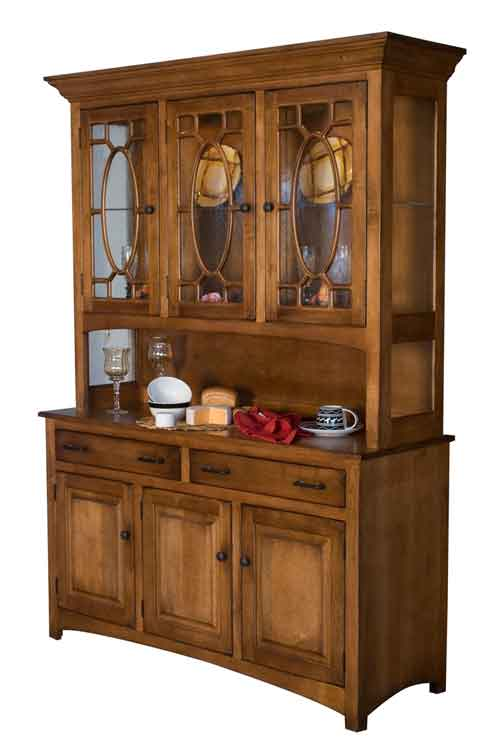 Amish Hackenburg Open Deck China Cabinet