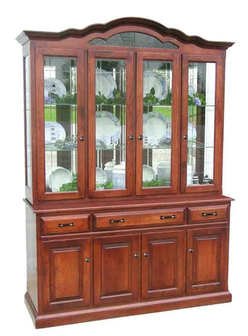 Amish Legacy Arched Top China Cabinet