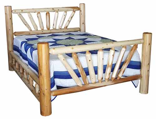 Amish Made Rustic Fan Bed