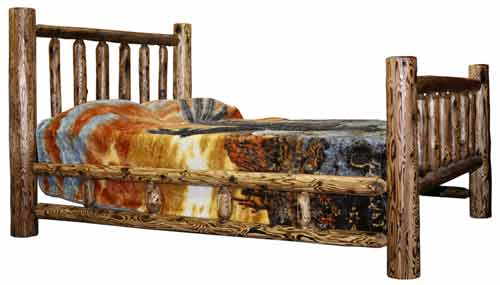 Amish Made Rustic Bed