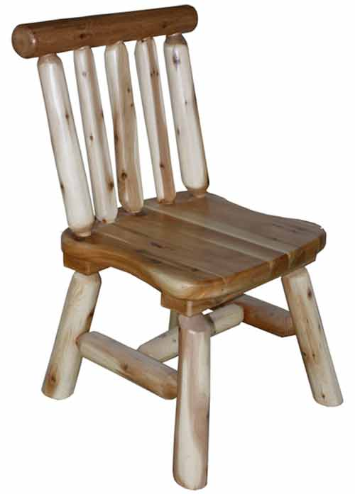 Amish Made Rustic Short Back Side Chair